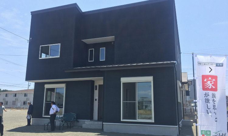 清水区の注文住宅|北側接道を活かした間取りが良いシンプルモダンなデザインの家の画像