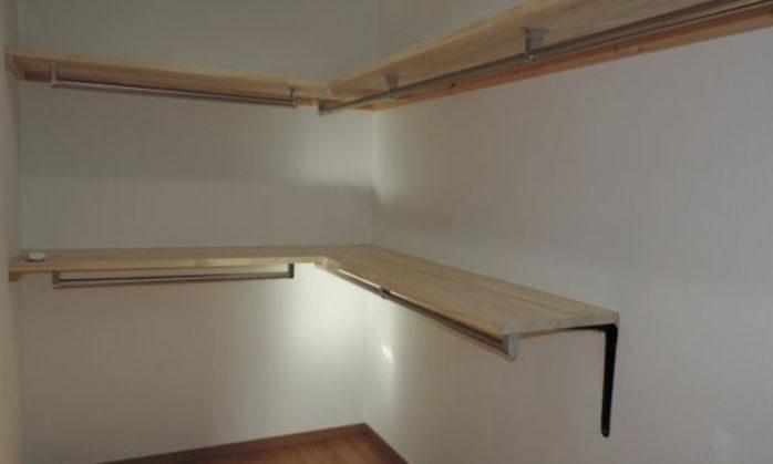 注文住宅の作り付け家具収納棚の画像