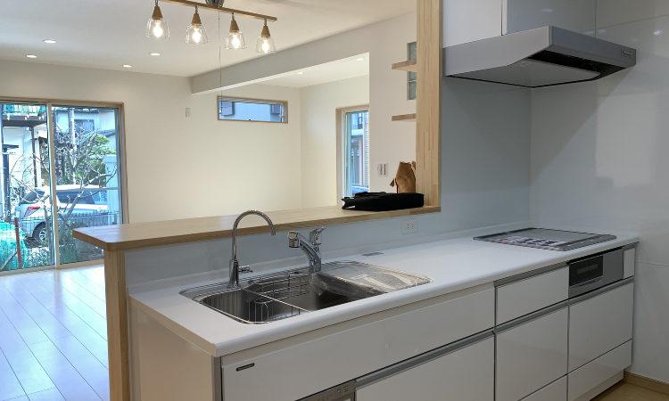 32坪4LDKの家のキッチンの画像