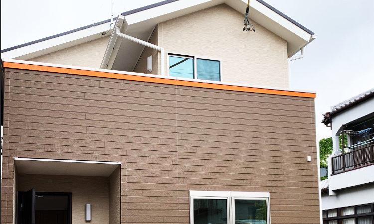 静岡市駿河区の28坪4LDK注文住宅の外観画像